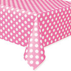 Minnie Mouse Pink Polka Dot Plastic Table Cover Birthday Decoration Party Supply