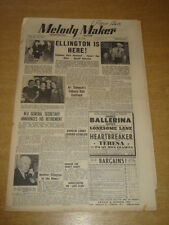 MELODY MAKER 1948 JUNE 26 DUKE ELLINGTON ART THOMSON GERALDO HARRY PARRY +