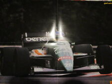 POSTER 4 PAGES AUTO : BENETTON FORMULE 1 : GERHARD BERGER ?