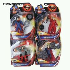 "DC COMICS/ SET 4 FIGURAS SUPERMAN 10 CM- ACTION FIGURES 4"" IN BLISTER"