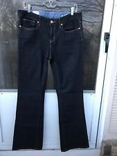 Gap 1969 curvy jeans STRETCH WOMENS DARK BLUE  size 31/12L
