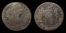 pci1277) SPAIN Carolus IIII 8 Reales 1803 Lima I.J. Toned from old collection