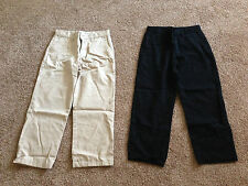 5pc Lot Boys Mix Colored O-Navy School Uniform Pants-10H & RL Polo,etc..Shirts-M