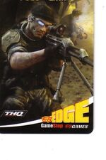 FRONTLINES FUEL OF WAR EB GAMES COLLECTIBLE Gift Card New No Value BILINGUAL*