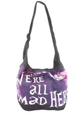 Disney Alice In Wonderland Cheshire Cat We're All Mad Here Hobo Bag Tote HTF NWT