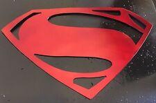 """Man of Steel  Super Man  Metal Wall Art  13 1/2"""" wide x 8 1/4"""" tall"""