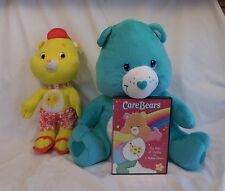"2006 HEARTSONG 15"" CAREBEAR PLUSH TOY  2007-Care-Bears-Funshine-Beach-Bear + DVD"