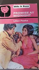 Mills and Boon Vintage Books - PROMISE AT MIDNIGHT by lillian peake