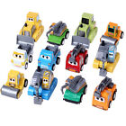 12 Pcs Cute Plastic Pull Along Toy Car Pull Them back And Watch Them Go