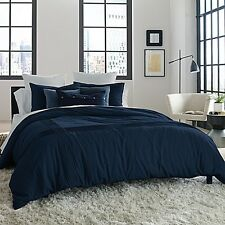 Kenneth Cole Reaction Home Structure KING Duvet Cover INDIGO NAVY BLUE NWT $170