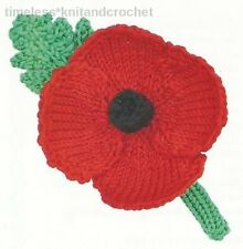 KNITTING PATTERN FOR A REMEMBRANCE DAY POPPY / FLOWER - knitting pattern only