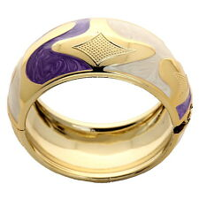 Purple White Punk Resin Bangle Gold Plated Gift Women Party Gift Hot Sale