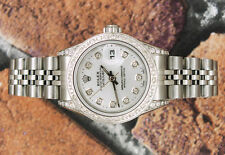 Ladies Fully Loaded with Diamond Dial, Bezel & Shoulders Rolex Datejust.