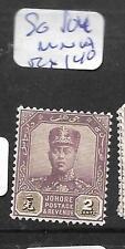 MALAYA JOHORE (PP1001B) 2C  SG 104   MNH