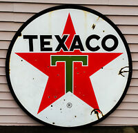 1960's TEXACO double-sided porcelain sign