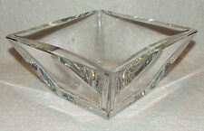 SIGNED SIGURD PERSSON KOSTA BODA SPARKLING CRYSTAL MID CENTURY SQUARE BOWL