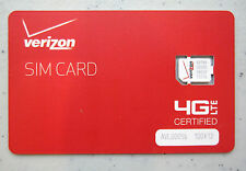 Verizon Wireless NANO 4G LTE SIM Card 4FF IPHONE 5 5S 6 & 6 Plus SIM Cards
