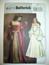 Renaissance Medieval fitted flared dress costume pattern 4571 size 6 8 10 12
