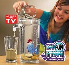 My Fun Fish self cleaning kid's beta aquarium goldfish bowl tank AS SEEN ON TV