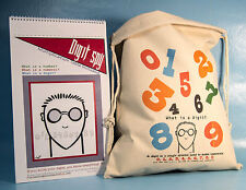 COOL MATH for kids DIGIT SPY Poster Book w/ Flour Sack Toy Bag MATH GAMES