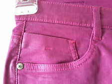 Sarah nucleo jeans pantaloni tg. 20 stretchjeans Stretch Rivestimento Metallizzato Rosa Nuovo
