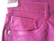 Sarah Kern Jeans Hose Gr. 20 Stretchjeans Stretch Metallic Beschichtung pink NEU