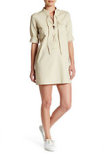 Theory Juliettah Lace-Up Shift Dress 6 NWT $295
