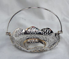 Small Art Deco 1930s Silver Plate / Plated Basket - Sweet Dish
