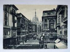 MILANO TRAM pellicce BALOGH Mavigli vecchia cartolina
