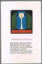 Vintage Christmas Message Postcard No. C231