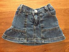 Rocawear baby girl jean skirt with attached diaper covers size 12 months old