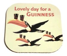 """SOTTOBICCHIERE PLASTIFICATO BIRRA GUINNESS """"LOVELY DAY FOR A GUINNESS"""""""