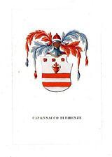 Araldica stemma araldico della famiglia Caponsacco di Firenze