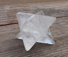 LARGE (50mm) CLEAR QUARTZ GEMSTONE MERKABA STAR (ONE) - BUY IT NOW