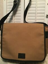 COACH Authentic Messenger Crossbody Computer Work School Travel Bag Tan C25-6414