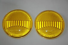 FOR VW KARMANN GHIA TYP 34 SET HELLA FOG LIGHT LENSES YELLOW GLASS 85783 NEW