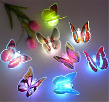 Colorido Romance Estilo mariposa LED luz noche Bedside Lámpara Room Decoración
