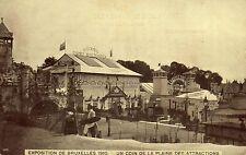 Postkaart - Brussel - Expo 1910 - Plein der arttracties