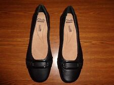Clarks SOFT CUHION BLACK SHOES WOMEN'S SIZE 6 1/2 M
