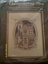 """Paragon Chainstitching Plus """"Bless This House"""" Embroidery Kit Size 14"""" x 18"""""""