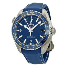 Omega Planet Ocean GMT Blue Dial Blue Rubber Mens Watch 23292442203001