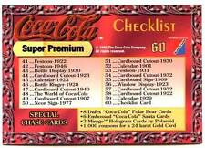 CARTE COLLECTION : COCA COLA CHECKLIST N° 60 SUPER PREM