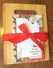 Brownlow Gifts - Bamboo Cutting Board with 36 Recipe Cards Christmas Gift
