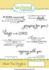 Taylored Expressions Cling Mounted Rubber Stamp Set Shade Tree Scripture