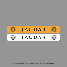 SKU2117 - Jaguar Number Plate Dealer Logo Cover Stickers - 140mm x 18mm