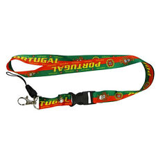 PORTUGAL GREEN RED COUNTRY FLAG FPF LOGO WORLD CUP LANYARD KEYCHAIN PASSHOLDER