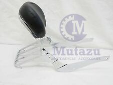 Mutazu Premium Sissy Bar Backrest & Luggage Rack for Suzuki C50 M50 Volusia 800
