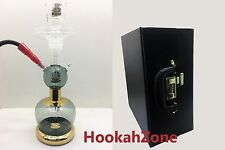 BLACK Al Fakher ALL GLASS HOOKAH SHISHA EXTRA ACCESSORY LEATHER CASE