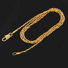 20in Womens Mens Chain Long Necklace Jewelry Yellow Gold Filled Fashion jewelry