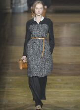 DRIES VAN NOTEN Black Ivory Mohair Wool Tweed Coat 40 8